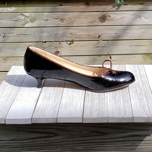 Butter Kitten Heel Pumps Round Toe Patent Leather